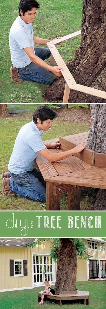 diy tree bench 17 easy and cheap curb appeal ideas anyone can do on a