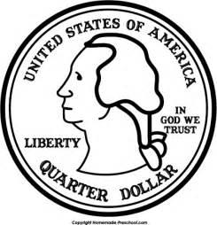 quarter black and white clipart