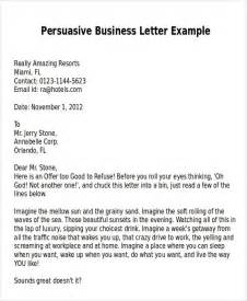 persuasive cover letter persuasive business letter exle the best letter sle