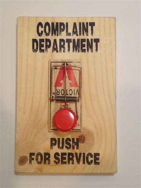 Complaint Department by New Complaint Department Mouse Trap Sign Office Gift