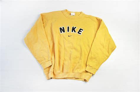 Burgundy Duvet Vintage Nike Yellow Sweater Jumper