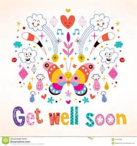 get well soon greeting card stock vector image 44401660