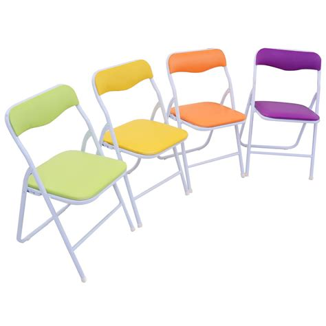 Childrens Folding Table And Chairs 5pcs Folding Table Chair Set Children Multicolor Play Room Furniture Us New Ebay