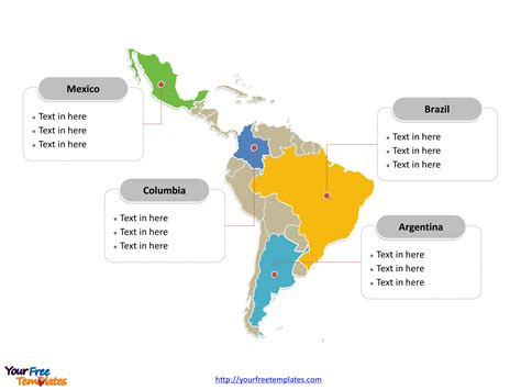 south america map free free america editable map free powerpoint templates