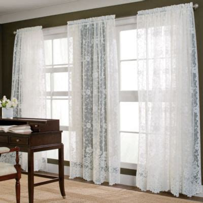Shari Lace Curtains Jcp Home Shari Lace Rod Pocket Ascot Valance