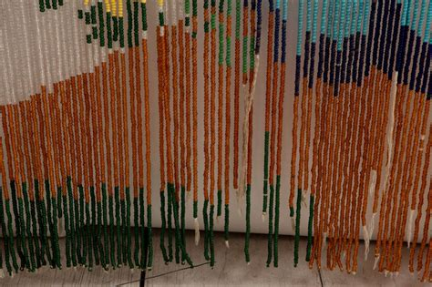 Mid Century Beaded Hanging Door Curtain Screen At 1stdibs