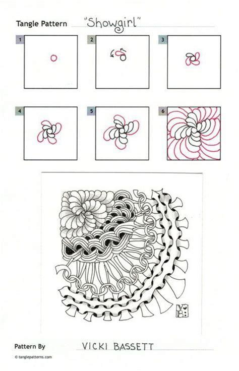 how to draw doodle patterns showgirl zentangle zen showgirls