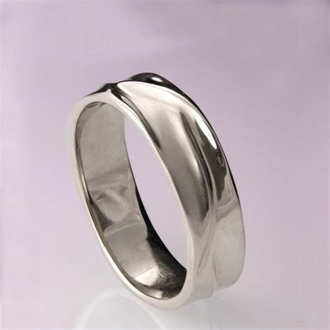waves no 5 platinum ring platinum wedding ring