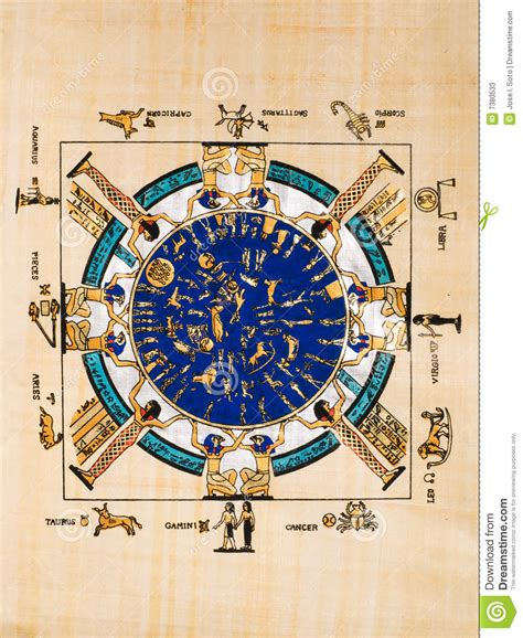 Calendario De Egipto Papiro Egipcio Fotos De Archivo Imagen 7380533