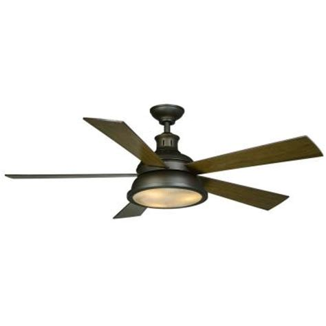 hton bay marlton 52 in rubbed bronze ceiling fan