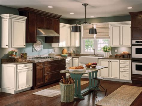 Toasted Antique Kitchen Cabinets by Aristokraft Cabinets Flagstone Cabinets Matttroy