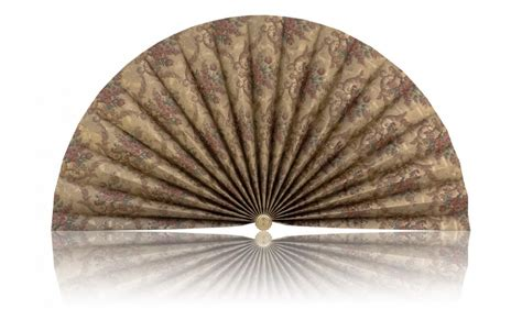 decorative pleated window fans gold with gold accents and burgundy flowers accent fans