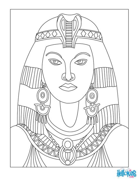 egyptian coloring book pages egyptian art coloring pages cleopatra queen of egypt for