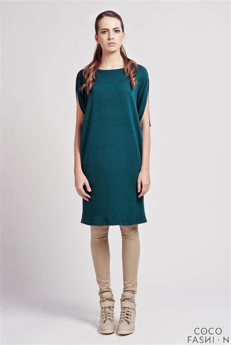 casual comfortable dresses cesious comfortable casual tunic dress with bat sleeves
