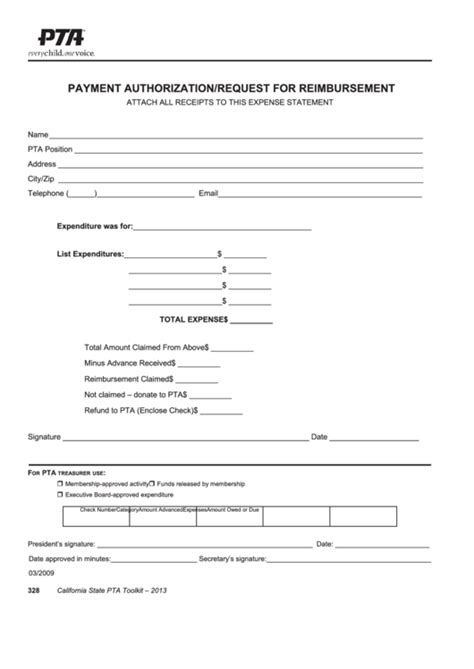 ca pta membership card template pta payment authorization request for reimbursement form