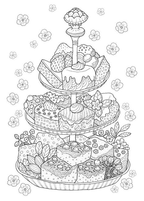 creative tea time coloring book coloring books 743 best colouring coffee tea cakes images on