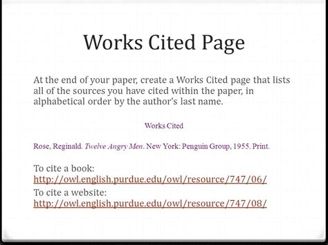 How To Make A Paper That Works - citing sources using the mla style guide ppt