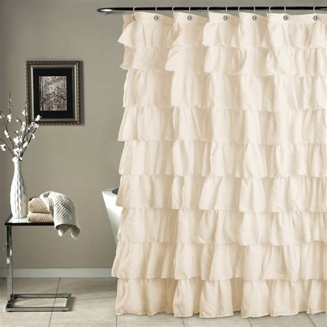 Ruffle Blackout Curtains Ruffle Shower Curtain Lush Decor Www Lushdecor