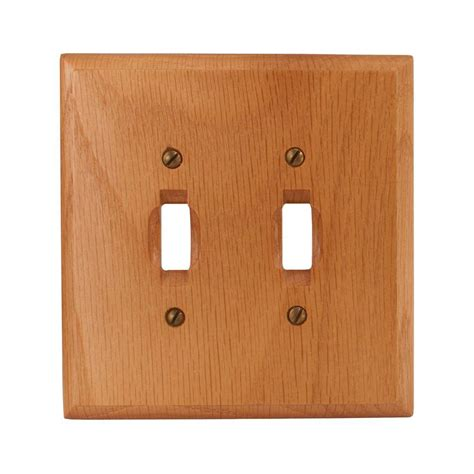 amerelle 2 toggle wall plate light oak c4025tt the