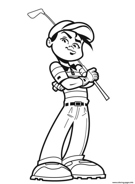 Awesome Golfer Sports Sbd9a Coloring Pages Printable Sport Pictures To Color