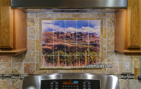 murals for kitchen backsplash custom tiles and tile mural pictures custom tile murals