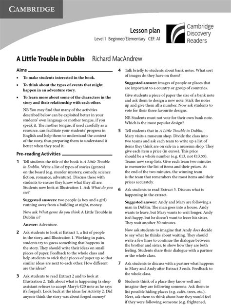 lesson plan on biography genre a little trouble in dublin lesson plan genre