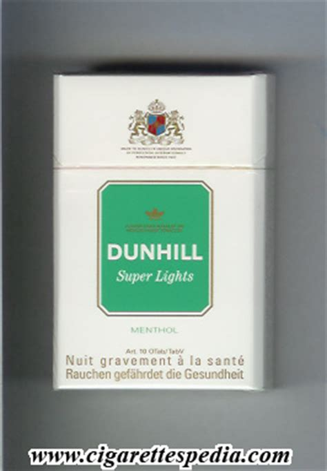 Dunhill International Menthol 20 dunhill version lights menthol ks 20 h white and green and