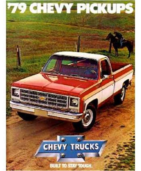 1979 chevrolet pickup truck sales brochure