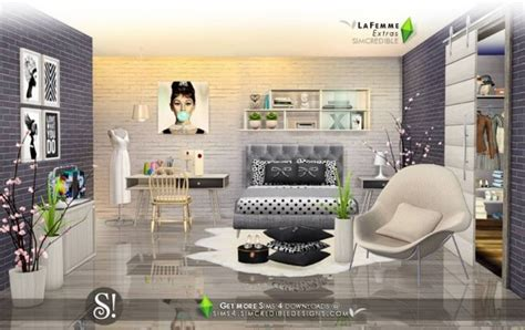 simcredible designs lafemme extras bedroom sims  downloads