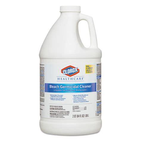 clorox healthcare bleach germicidal hospital disinfectant cleaner  oz bottles case