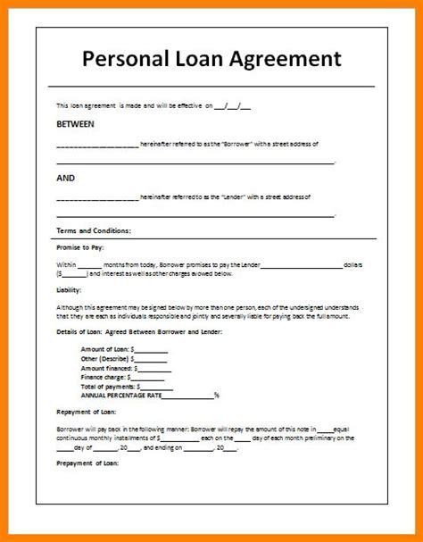 money loan agreement template cash loan agreement sle 5