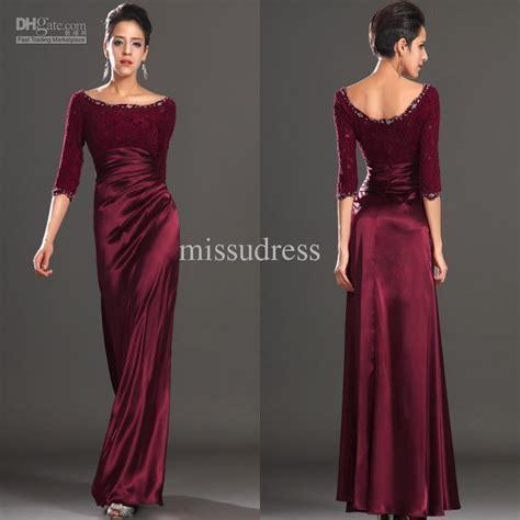 Dh Stela Maxi black sleeve floor length dress black prom