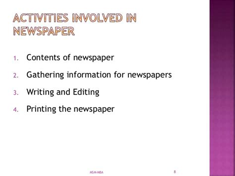 Mba 6941 Unit V Scholarly Activity by Wc Unit 5 Writing For Media And Creative Writing