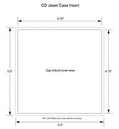 jewel case insert cd template for cd duplication and cd
