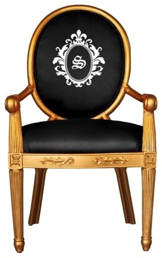 Monogram Chair by Society Social Gold Monogrammed Chair Traditional