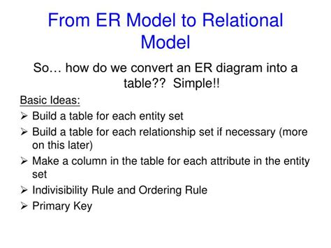 convert er diagram to relational schema exle ppt how to translate er model to relational model