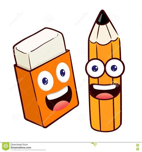 imagenes a lapiz animadas personaje de dibujos animados del l 225 piz y del borrador