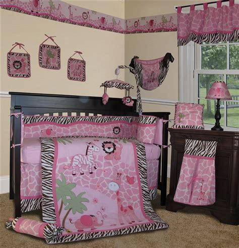 Sisi Pink Safari Baby Bedding And Accessories Baby Baby Safari Crib Bedding