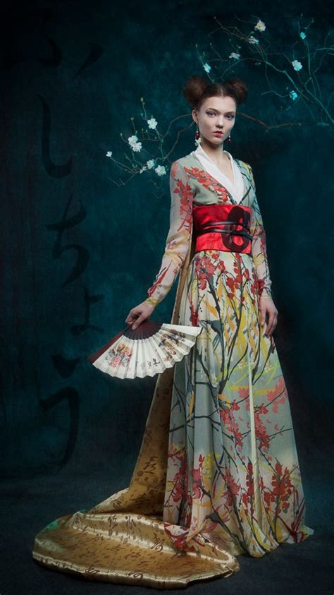 Traditional Japanese Costume inspired by both and japanese traditional costumes