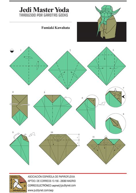 How To Fold Origami Wars - wars origami yoda comot