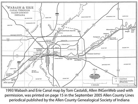 Fort Wayne Indiana Court Records Wabash And Erie Canal Of Allen County Indiana On Allen