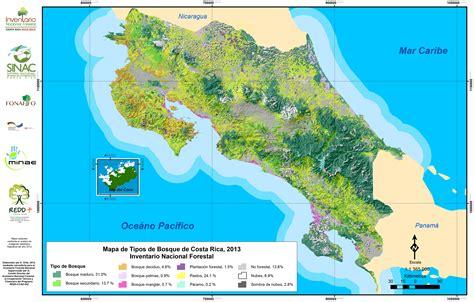 imagenes satelitales costa rica costa rica cuenta con su primer mapa cartogr 225 fico de tipos