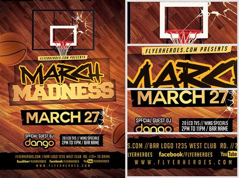 march madness time again for your advertising logo the