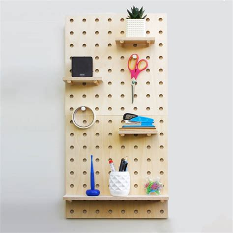peg board shelves pegboard shelving system by housekeeping notonthehighstreet
