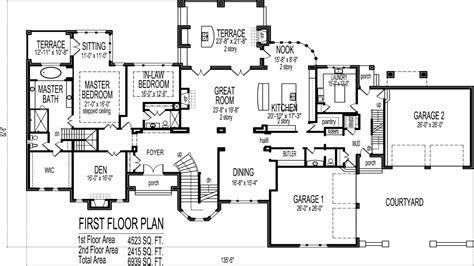 house plans 6 bedrooms 6 bedroom house plans blueprints luxury 6 bedroom house