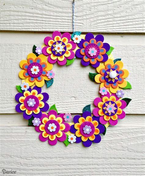 wreath crafts craft idea foamies flower wreath darice