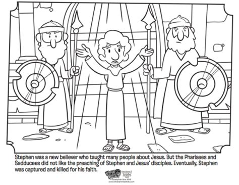 coloring pages book of acts stephen whats in the bible