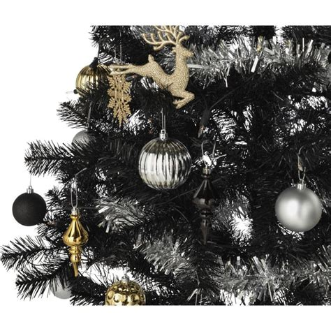 ready dressed christmas tree ready to dress luxe black tree 6ft trees decorations gmv trade