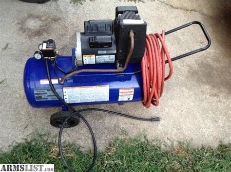 cbell hausfeld air compressor 13 gallon 4 hp 125 psi works comes with hose i think