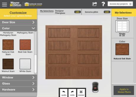 garage layout app design a garage door with our new app